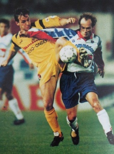 Bruno Germain au duel (HAC Foot Archives)