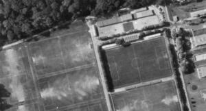 Vue aérienne du Stade Georges-Lefèvre en 1972