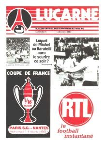 Programme du match (archives MK)