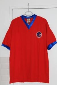 Réédition du maillot domicile 1970-72, version été (collection MaillotsPSG)