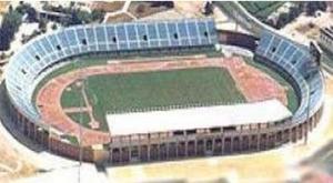 Le stade municipal de Chapin avant sa rénovation de 2002
