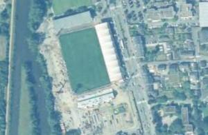 Vue aérienne du Stade de la Route de Lorient en travaux