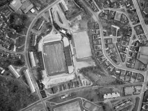 Vue aérienne du stade du Roudourou