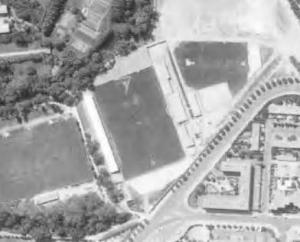 Vue aérienne du stade de la Mosson