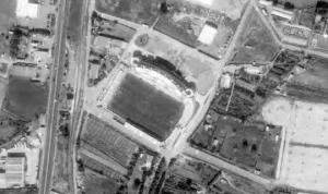 Vue aérienne du stade Armand-Cesari de Furiani
