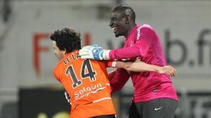 Le troisième gardien parisien de la soirée: Mamaddou Sakho a suppléé  Ronan Le Crom, entré à la mi-temps avant d'être expulsé...