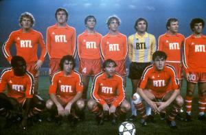 Les parisiens posant avant le match