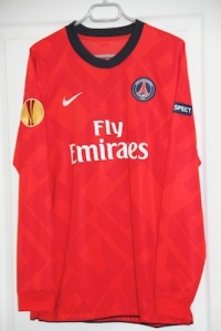 Maillot domicile 2010-11 version Europe (collection MaillotsPSG)
