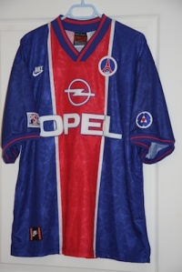 Maillot domicile 1995-96 (version du commerce, collection MaillotsPSG)