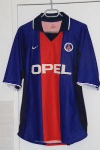 Maillot domicile 2000-01 en version Europe (collection MaillotsPSG)