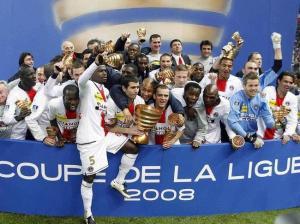 Les vainqueurs de l'édition 2008 de la Coupe de la Ligue