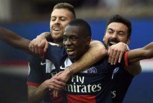 La joie de Blaise Matuidi après son but à l'extrême fin du match