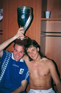 Vincent Guérin et Daniel Bravo avec la coupe