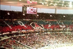 Première visite des fans parisiens au Stade de France, début d'une longue série...