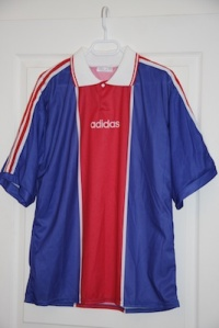 Maillot domicile Adidas 1994-98 (collection MaillotsPSG)