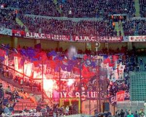 Les supporters parisiens présent à San Siro
