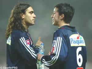 Juan Pablo Sorin et Selim Benachour en dicussion