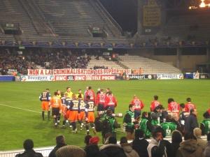 Le contre-parcage parisien à l'entrée des joueurs (Mouvement Ultra)