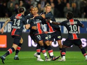 Nouvelle scène de joie des parisiens qui seront revenus deux fois au score avant de l'emporter