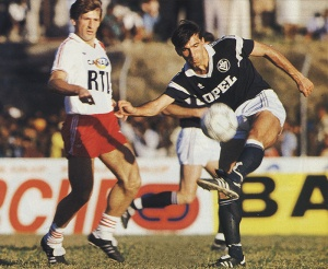 Safet Susic et son compatriote Vujovic