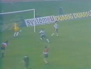 Ouverture du score par Jules Bocandé au bout d'une minute... injustement refusée par l'arbitre!