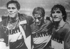 La triplette uruguayenne du Racing, Paz, Umpierrez et Francescoli