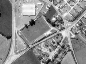 Vue aérienne du stade de Kéramperu