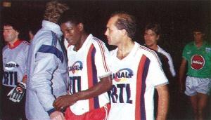 Oumar Sène et Ray Wilkins