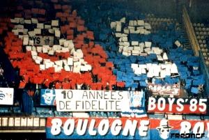 Ce match marquait les dix ans des Boulogne Boys