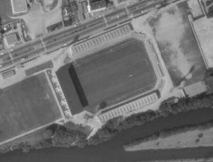 Vue aérienne du stade de la Route de Lorient