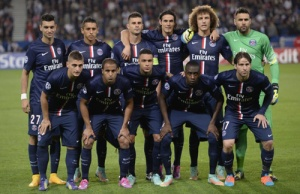 Les parisiens avant le coup d'envoi (R. Martin)