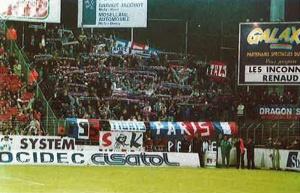 Les supporters parisiens… (A. Lecoq)