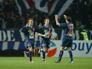 La joie des parisiens qui remonteront deux buts aux nantais (Ch. Gavelle)
