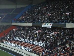 Le Virage Auteuil, en grève contre la repression systématique, soutient la candidature de Paris 2012
