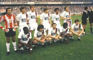 L'équipe parisienne avant le coup d'envoi...