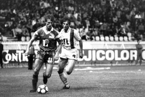 Buscher chassé par Jean-Marc Pilorget (Stade Brestois 1950)