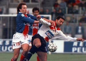 Benoît Cauet à la lutte (HAC Foot Archives)
