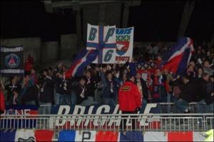 Les fans parisiens à Gerland