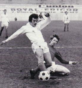 Jean-Claude Bras sur la pelouse du stade Auguste-Delaune