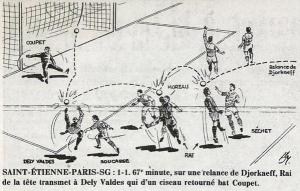 Le but illustré dans France Football