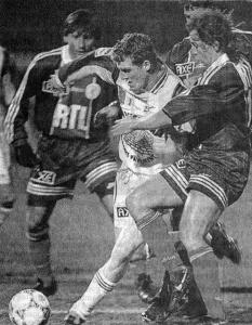Benoît Cauet et Leonardo face à Bisontin