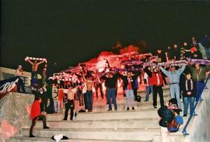 Les supporters parisiens présents à Poitiers