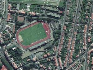 Vue aérienne du stade de la Libération