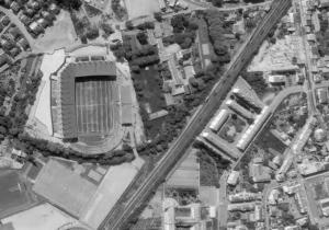 Vue aérienne des travaux de La Meinau