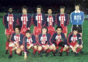 Les parisiens avant le match : Laposte, Novi, Renaut, Lokoli, Pilorget, Bensoussan - Nosibor, Redon, Piasecki, Tokoto, Dahleb (archives Jac79)