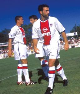 Jimmy Algerino et Laurent Robert avant le top d'envoi