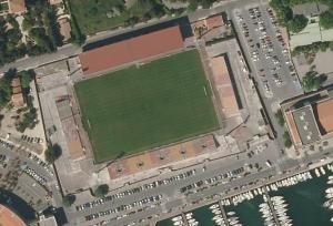 Vue aérienne du stade Francis-Turcan