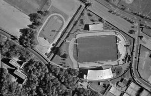 Vue aérienne du stade de La Source
