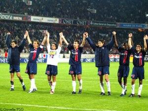 Les parisiens à la fin du match (Ch. Gavelle)