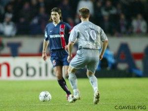 Mauricio Pochettino, défenseur et unique buteur du match (Ch. Gavelle)